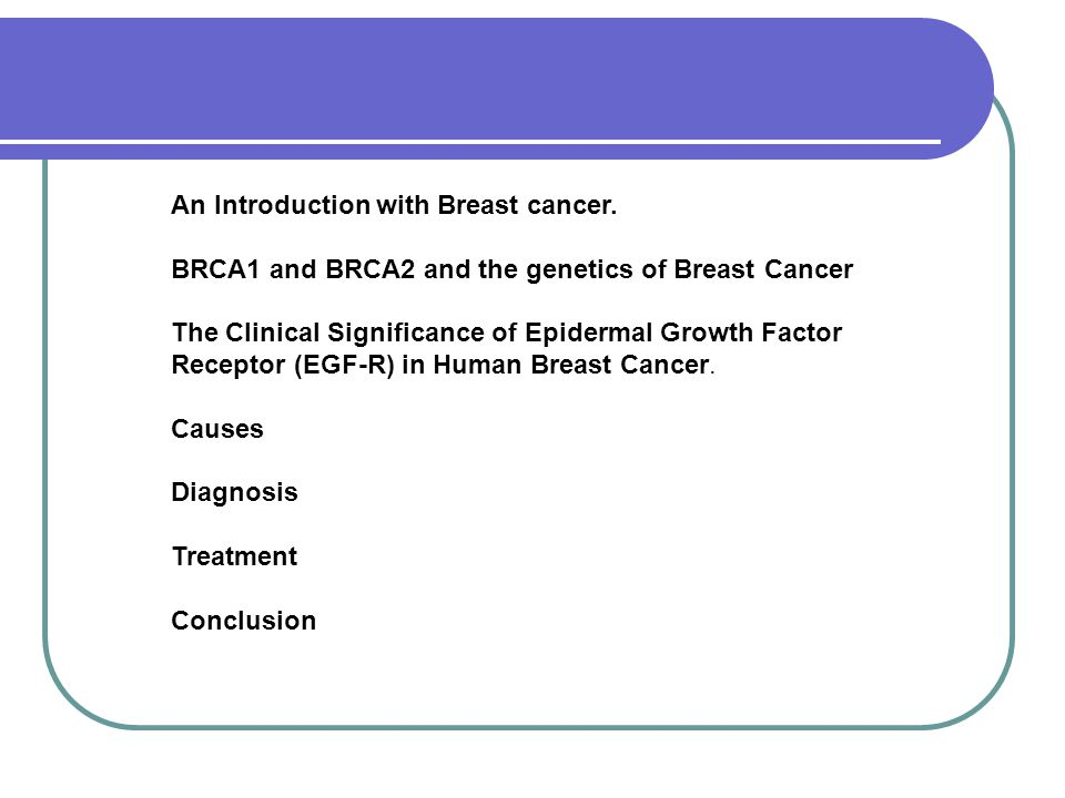 An Introduction with Breast cancer.