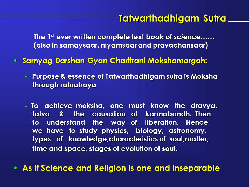 Tatwarthadhigam Sutra