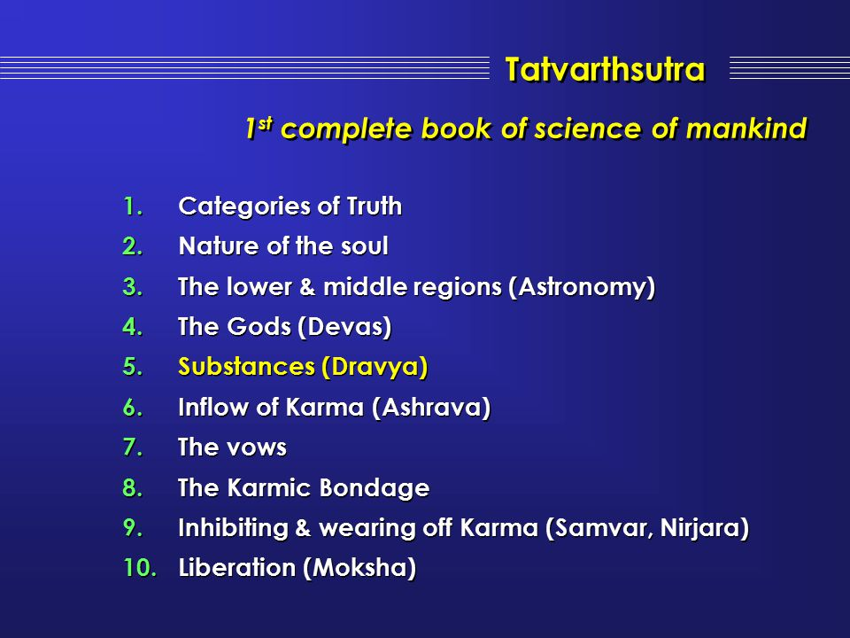 Tatvarthsutra 1st complete book of science of mankind