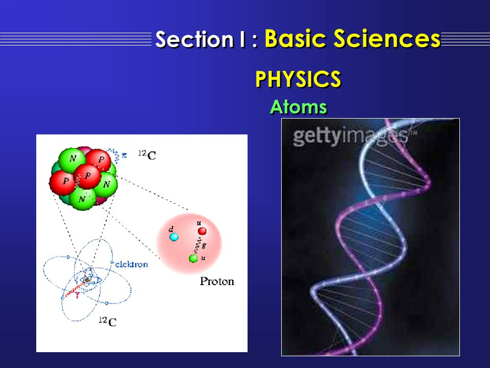 Section I : Basic Sciences PHYSICS Atoms