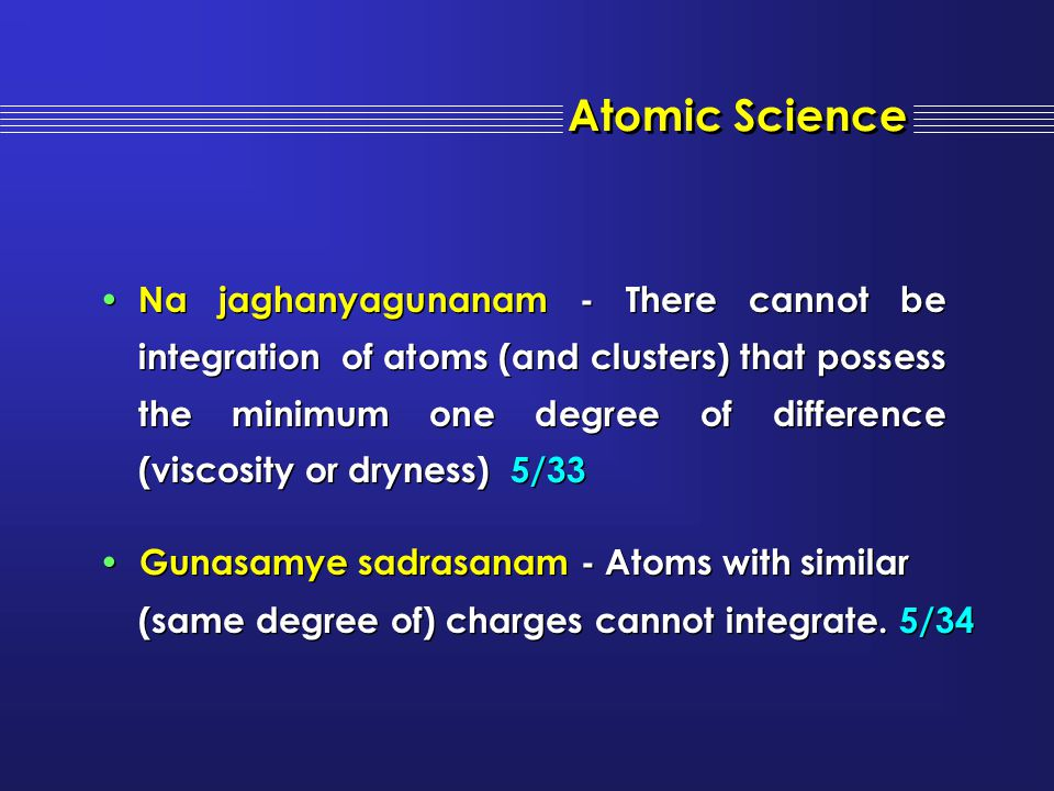 Atomic Science