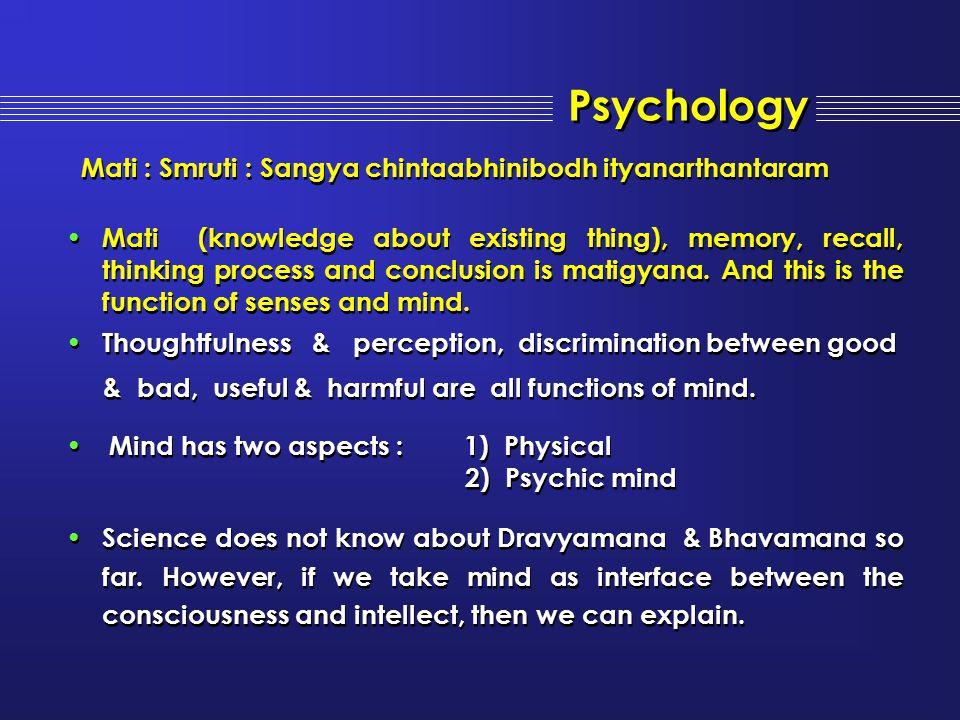 Psychology Mati : Smruti : Sangya chintaabhinibodh ityanarthantaram
