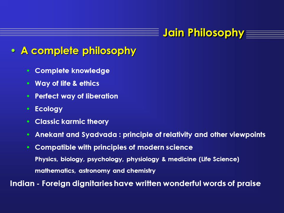Jain Philosophy A complete philosophy