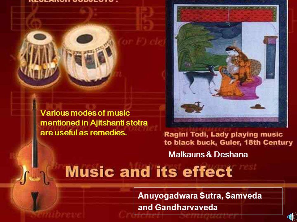 Anuyogadwara Sutra, Samveda and Gandharvaveda