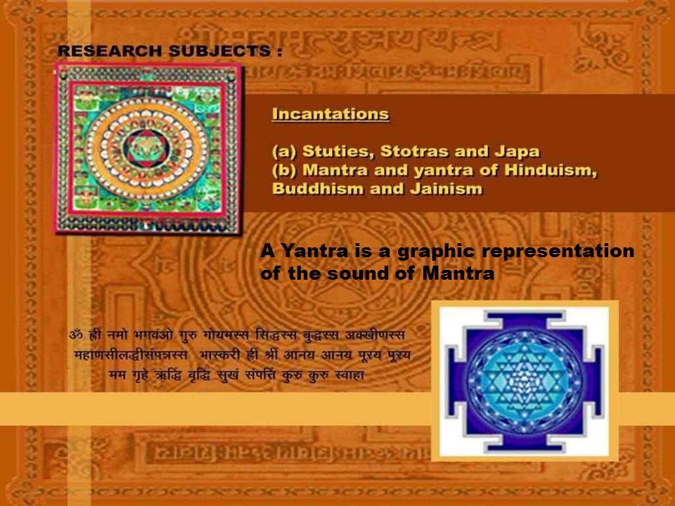 A Yantra is a graphic representation of the sound of Mantra