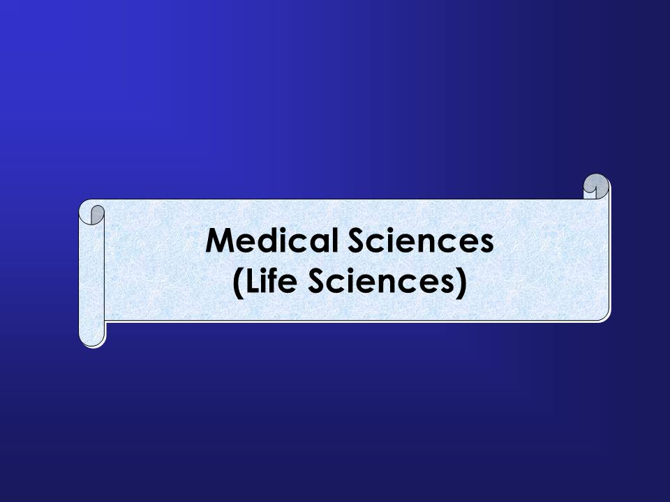 Medical Sciences (Life Sciences)