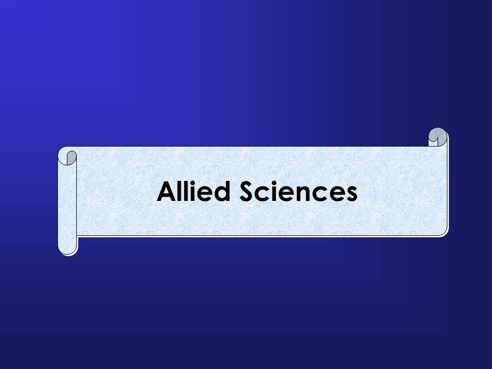 Allied Sciences
