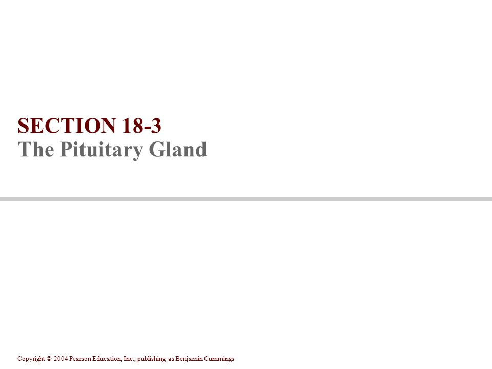 SECTION 18-3 The Pituitary Gland