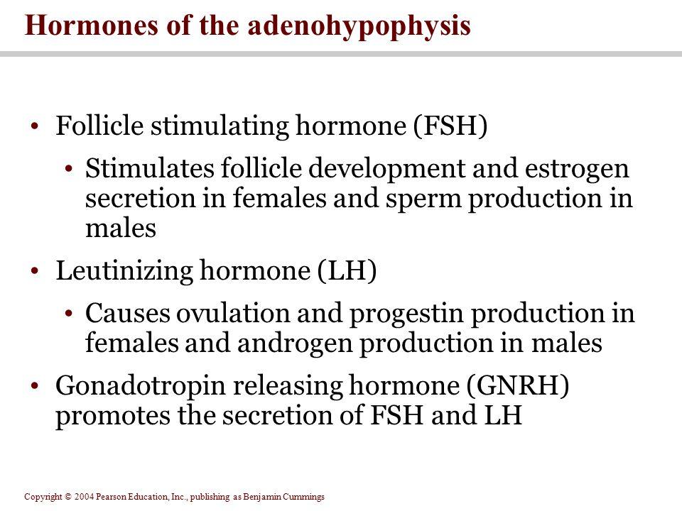 Hormones of the adenohypophysis