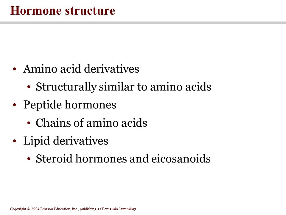 Hormone structure Amino acid derivatives