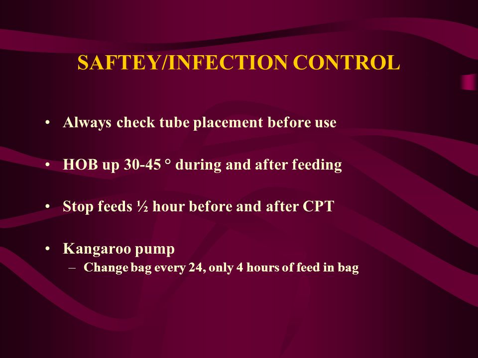 SAFTEY/INFECTION CONTROL