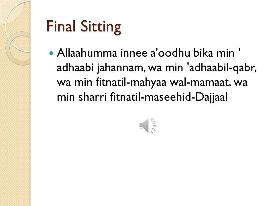 Final Sitting