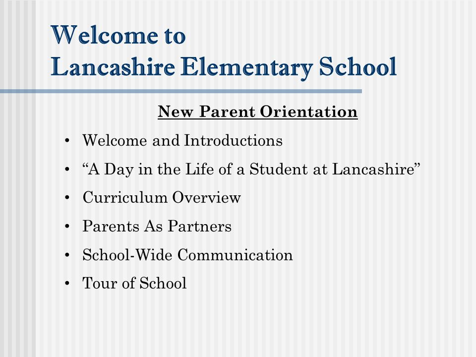 Welcome to Lancashire Elementary School