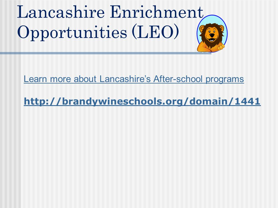 Lancashire Enrichment Opportunities (LEO)