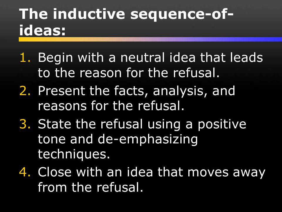 The inductive sequence-of-ideas: