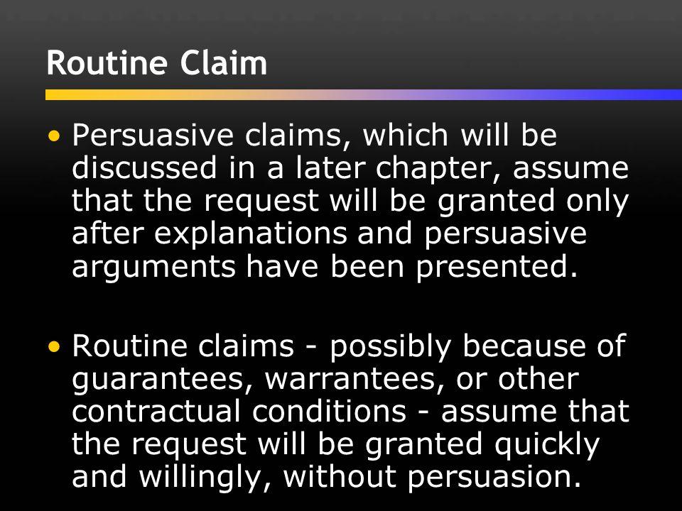 Routine Claim