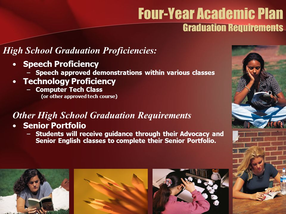Four-Year Academic Plan Graduation Requirements