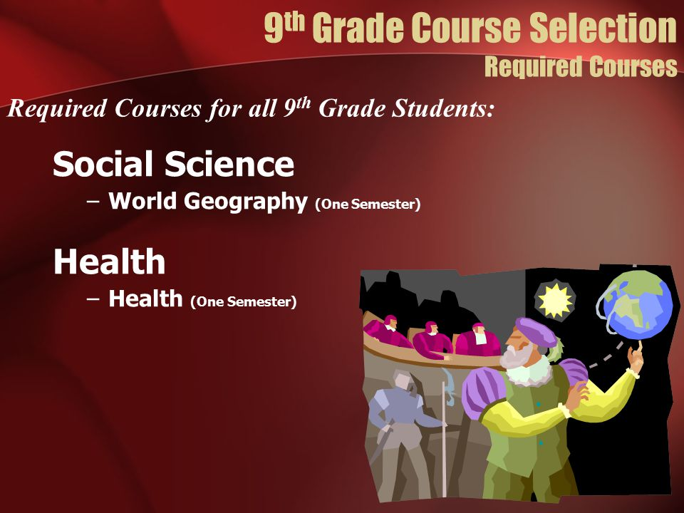 9th Grade Course Selection Required Courses