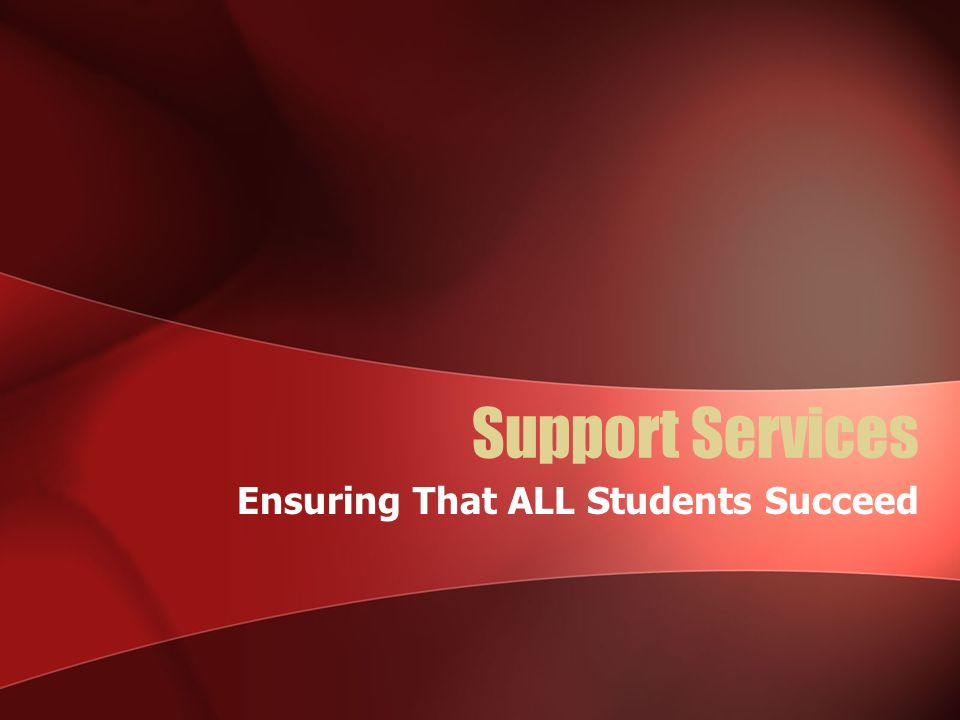 Ensuring That ALL Students Succeed