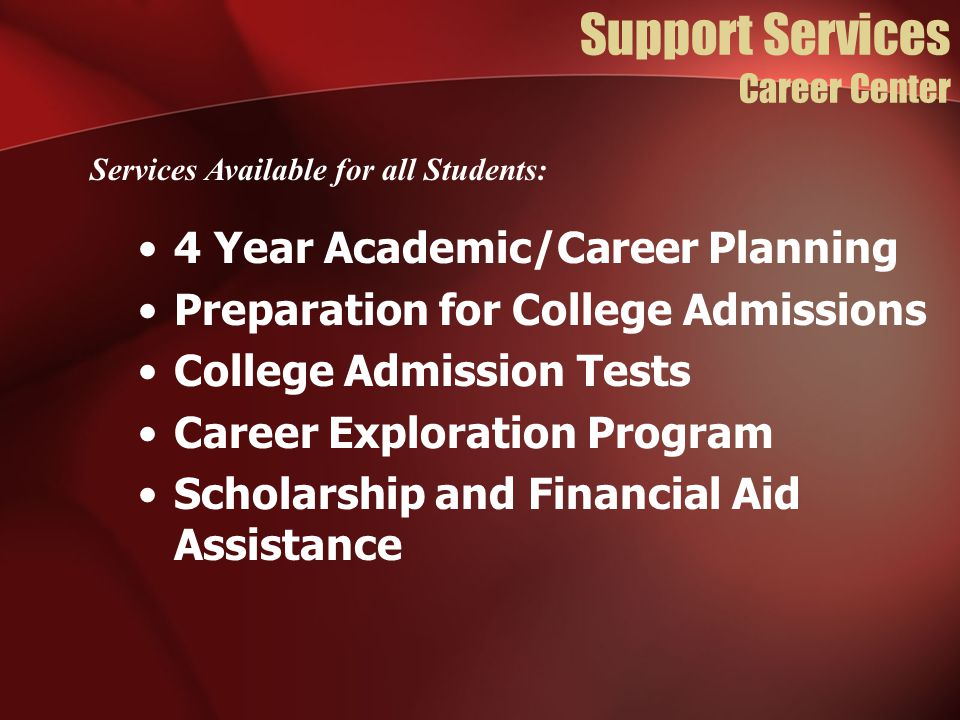 Support Services Career Center