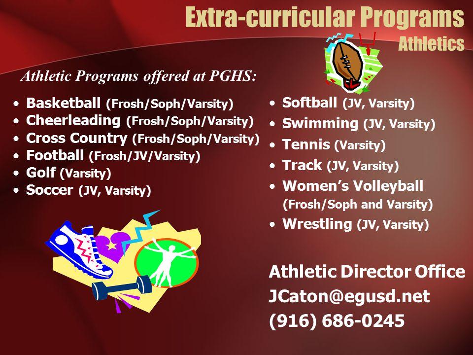 Extra-curricular Programs Athletics