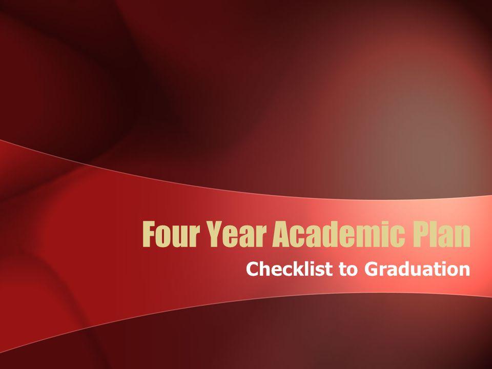 Four Year Academic Plan
