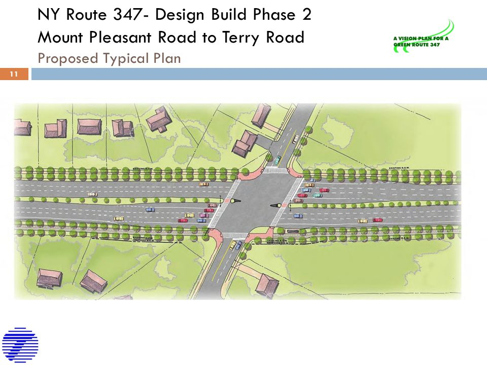NY Route 347- Design Build Phase 2 Mount Pleasant Road to Terry Road Proposed Typical Plan
