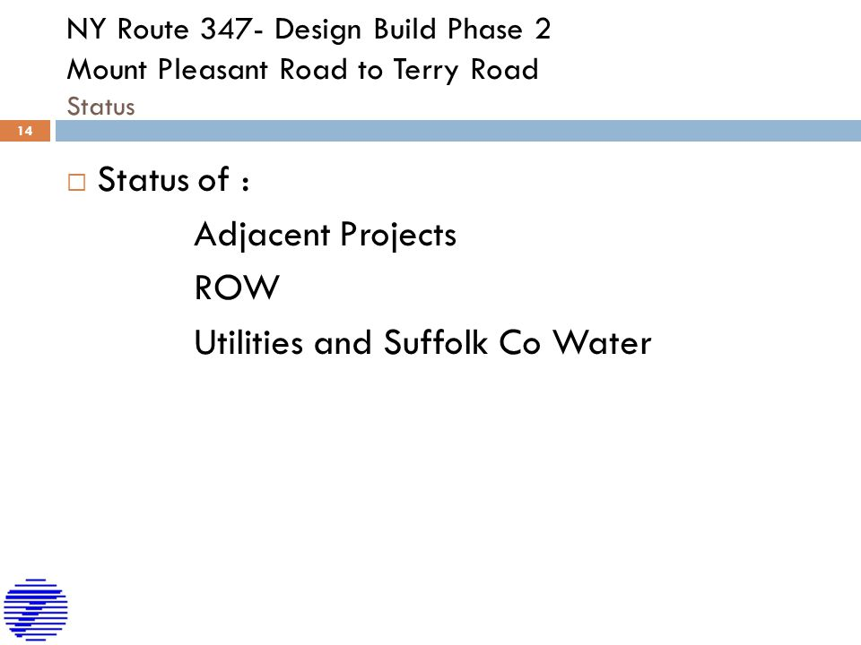 Utilities and Suffolk Co Water