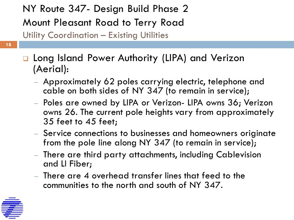 Long Island Power Authority (LIPA) and Verizon (Aerial):