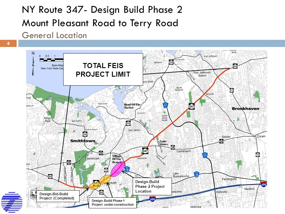 NY Route 347- Design Build Phase 2 Mount Pleasant Road to Terry Road General Location