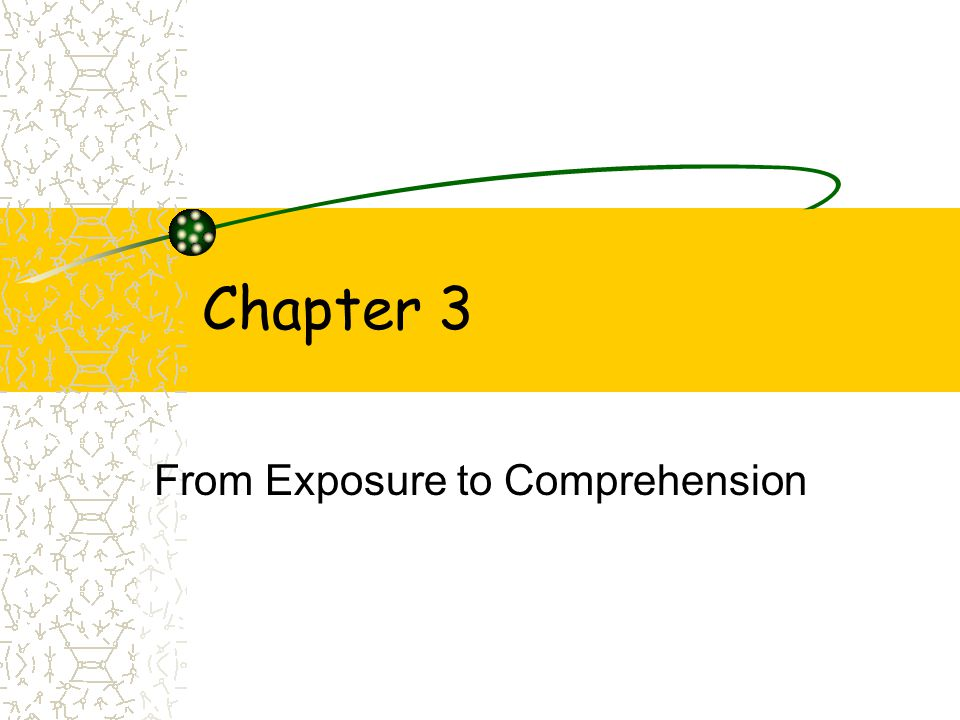 exposure attention comprehension This publication reviews the research on comprehension instruction published since the 2000 nrp report  literacy activity to another after exposure to instructional strategies that used repeated presentation, explicit  more attention must.
