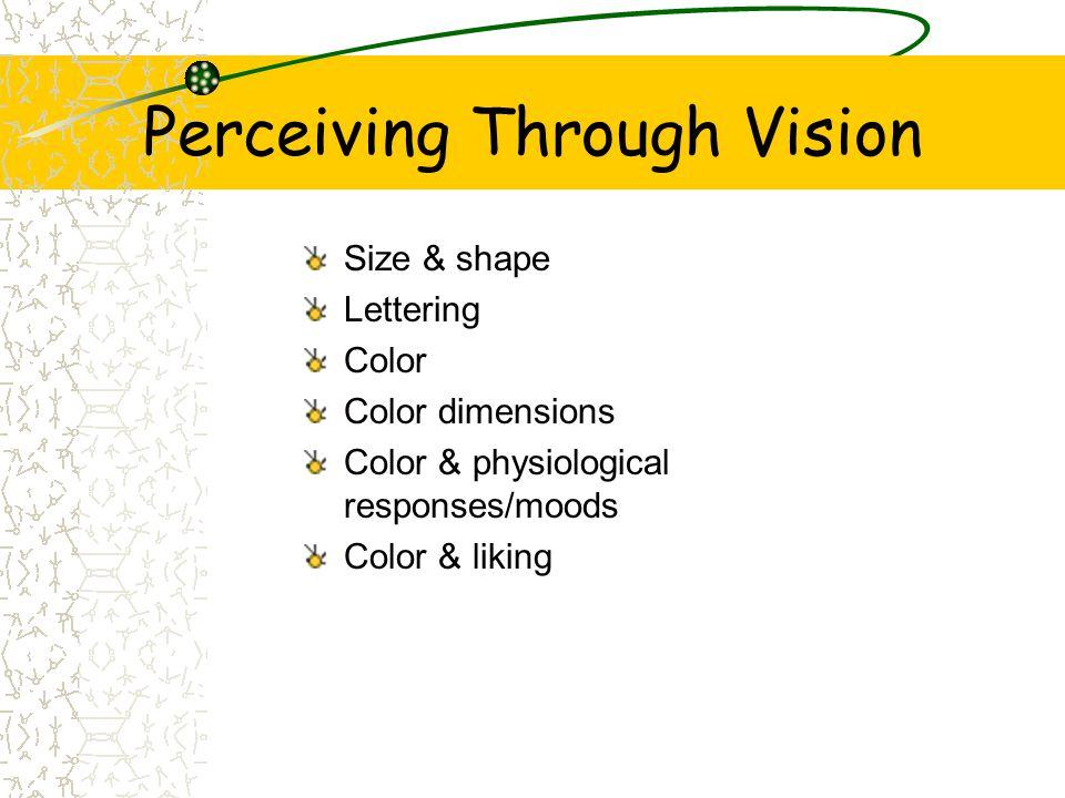 Perceiving Through Vision