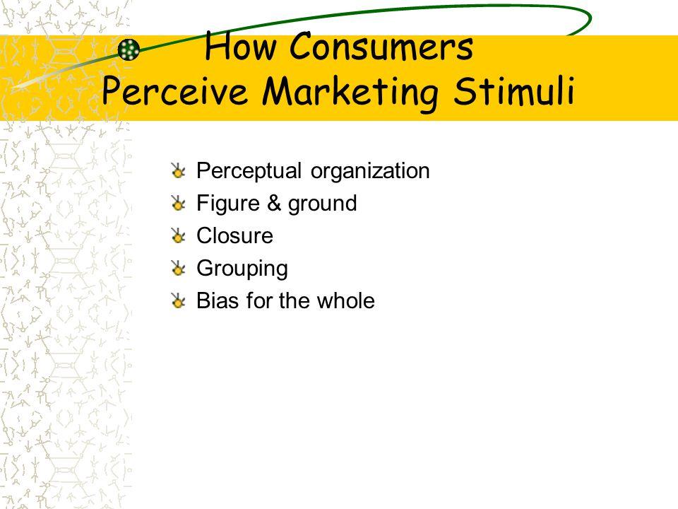 How Consumers Perceive Marketing Stimuli