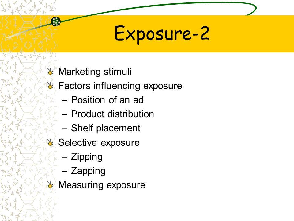 Exposure-2 Marketing stimuli Factors influencing exposure