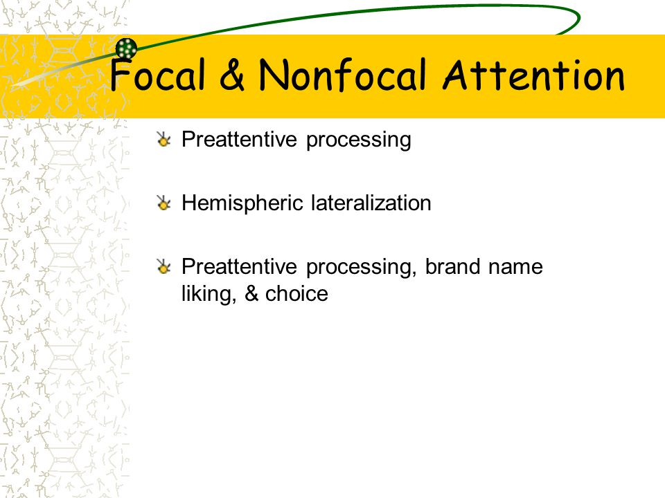 Focal & Nonfocal Attention