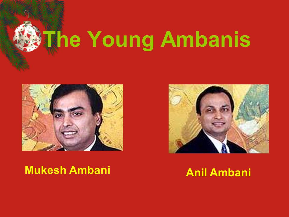The Young Ambanis Mukesh Ambani Anil Ambani