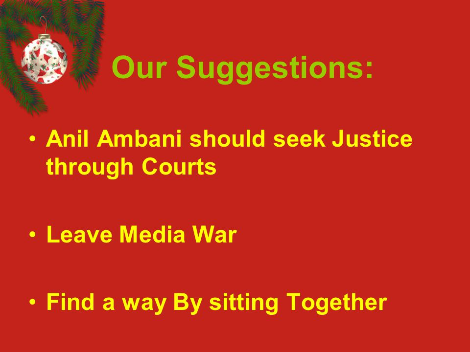 Our Suggestions: Anil Ambani should seek Justice through Courts