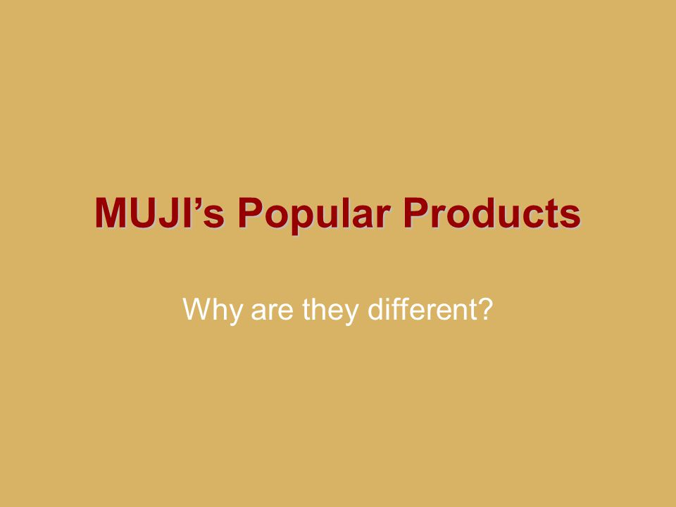MUJI's Popular Products