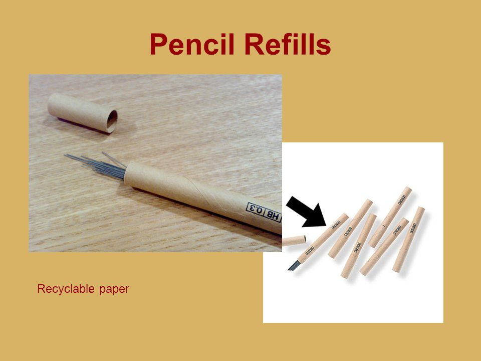 Pencil Refills Recyclable paper