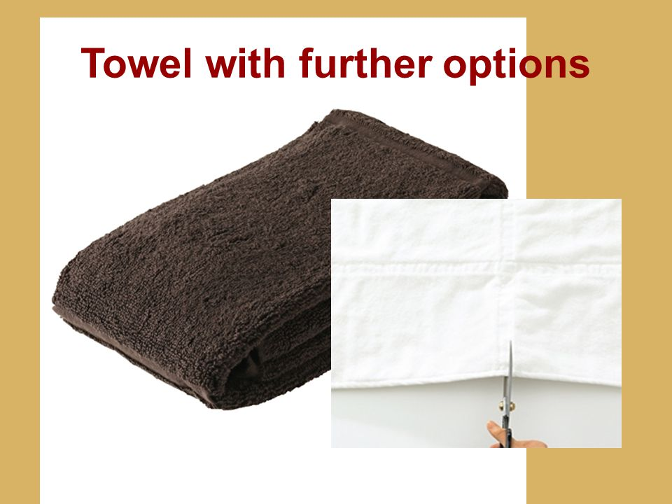 Towel with further options