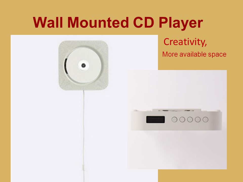 Wall Mounted CD Player Creativity, more aviliable space More