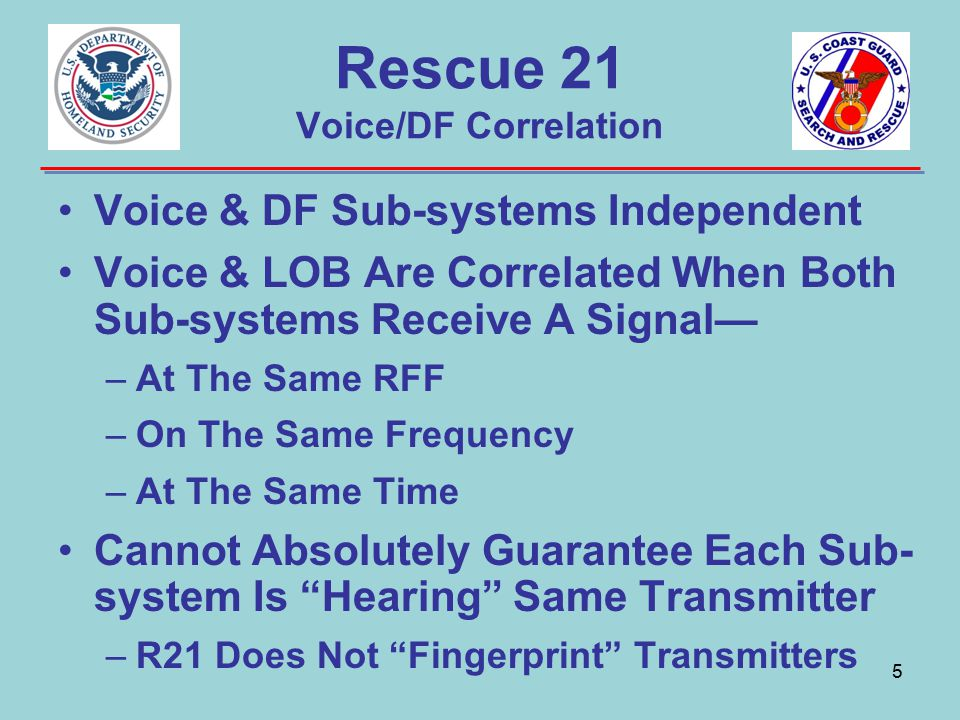 Rescue 21 Voice/DF Correlation