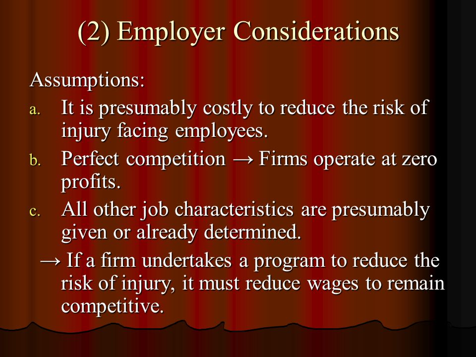 (2) Employer Considerations