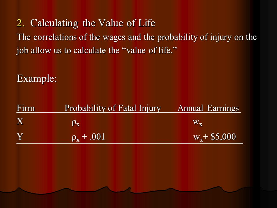 2. Calculating the Value of Life