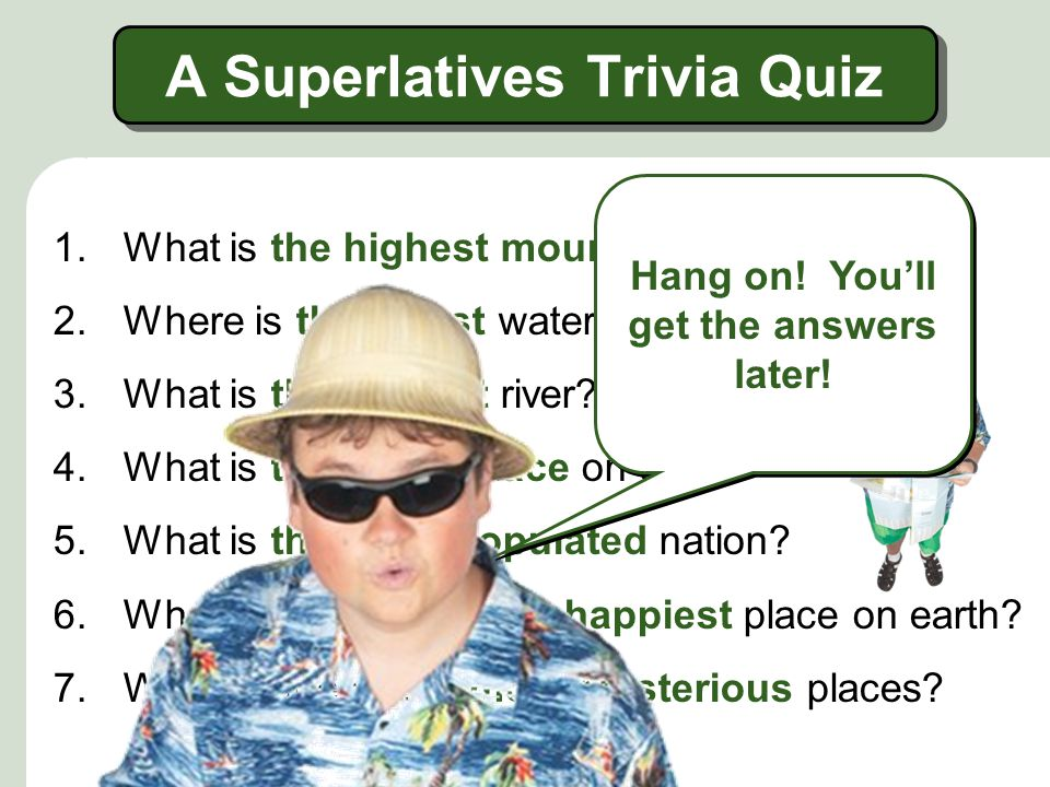 A Superlatives Trivia Quiz