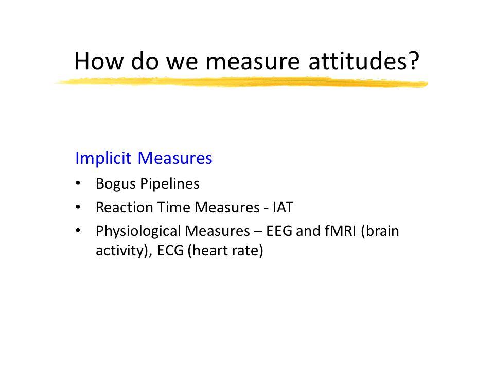How do we measure attitudes