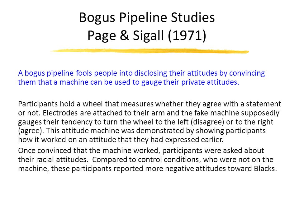 Bogus Pipeline Studies Page & Sigall (1971)