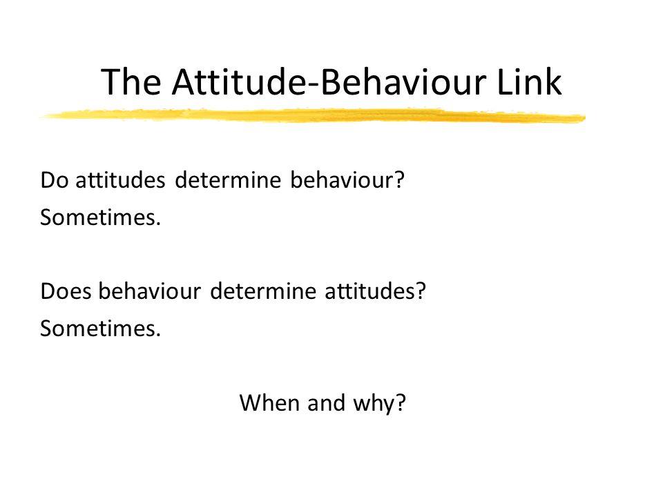 The Attitude-Behaviour Link