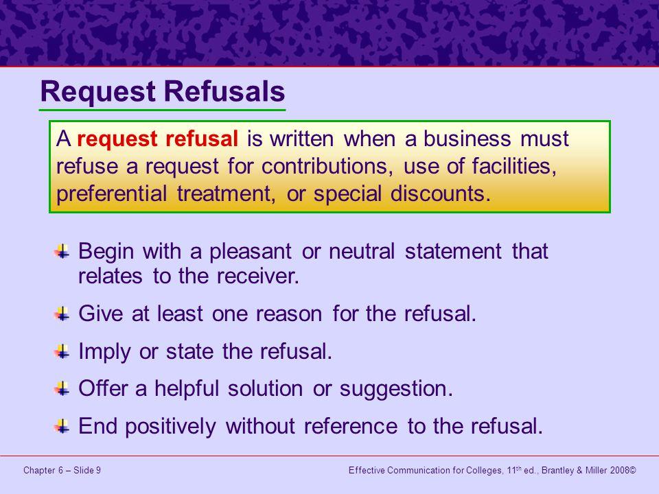 Request Refusals