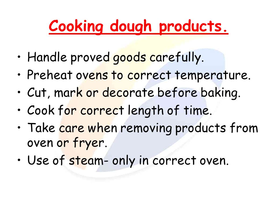 Cooking dough products.